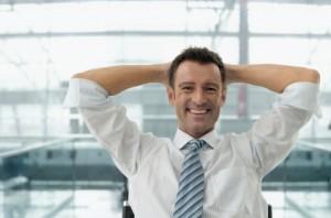 Nach der Wahl des besten Geschäftskontos können Sie sich entspannt zurücklehnen.