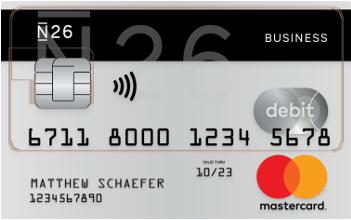 N26 Geschäftskonto mit Kreditkarte